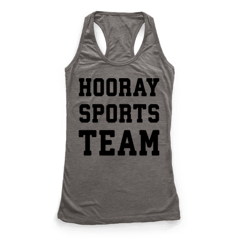 Hooray Sports Team Racerback Tank Top