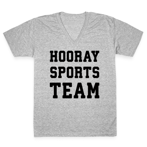 Hooray Sports Team V-Neck Tee Shirt