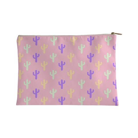 Pastel Cactus Accessory Bag