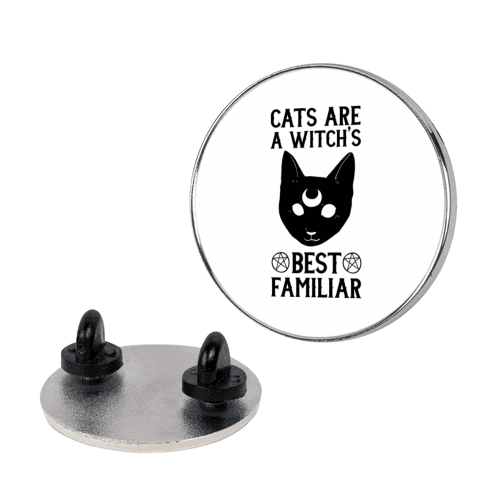 Cats are a Witch's Best Familiar pin