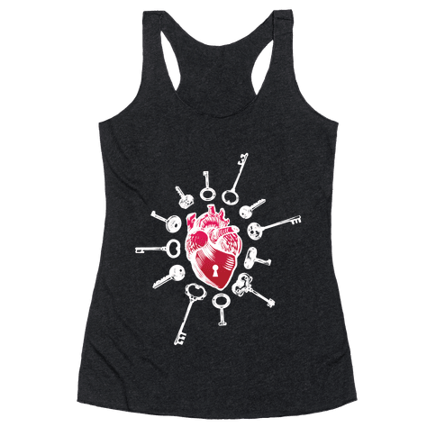 Keys To My Heart Racerback Tank Top