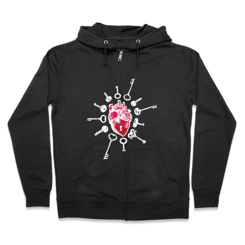 Keys To My Heart Zip Hoodie