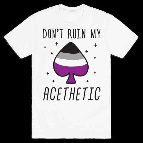 Don't Ruin My Acethetic Mens T-Shirt