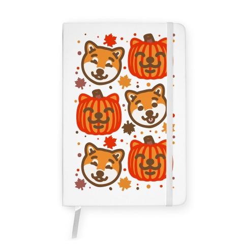 Shiba Inu Pumpkins Notebook