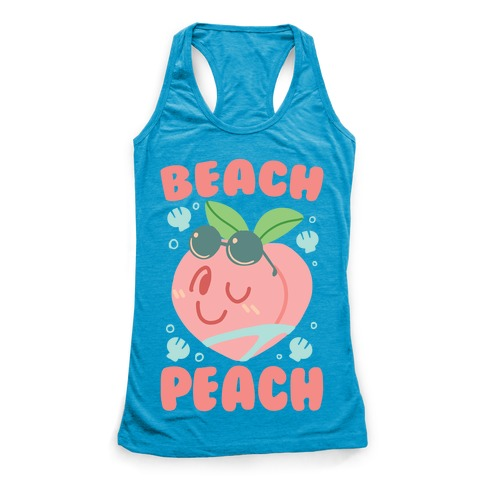 Beach Peach Racerback Tank Top