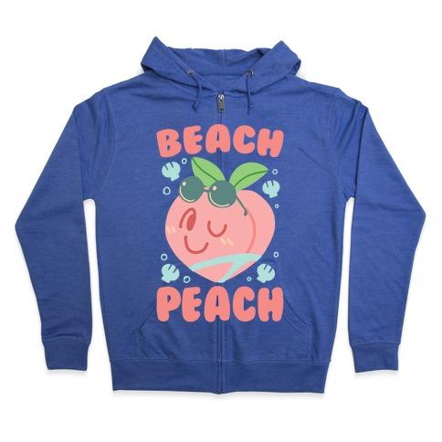 Beach Peach Zip Hoodie