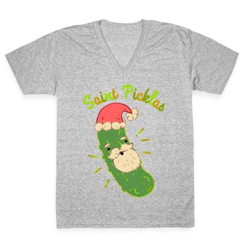 Saint Picklas V-Neck Tee Shirt