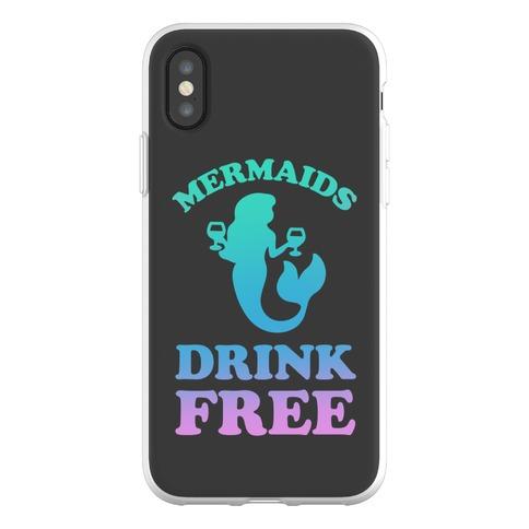 Mermaids Drink Free Phone Flexi-Case