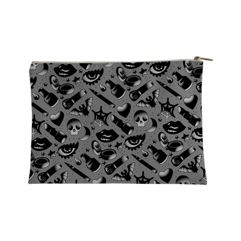 Goth Makeup Pattern Accessory Bag