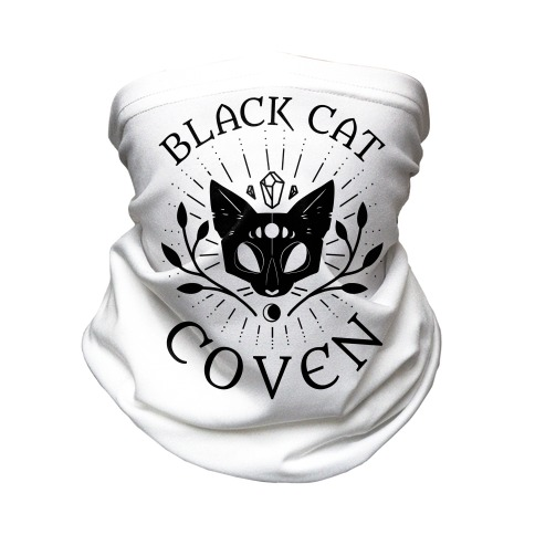 Black Cat Coven Neck Gaiter