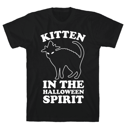 Kitten In The Halloween Spirit Mens T-Shirt