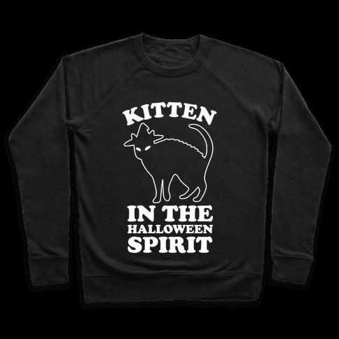 Kitten In The Halloween Spirit Pullover