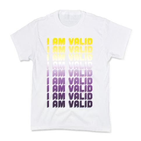 I Am Valid - Non-binary Kids T-Shirt