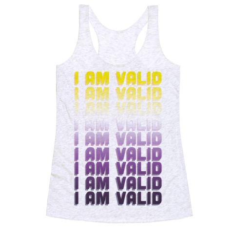 I Am Valid - Non-binary Racerback Tank Top