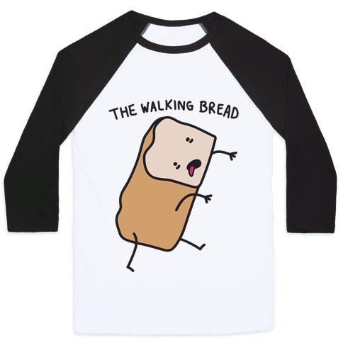 The Walking Bread Parody Baseball Tee