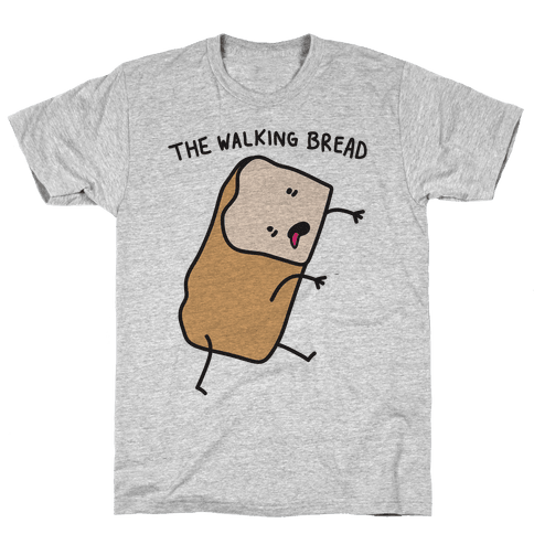 The Walking Bread Parody Mens T-Shirt