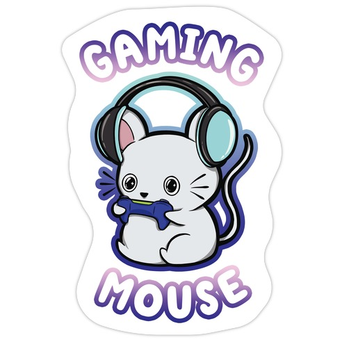 Gaming Mouse Die Cut Sticker