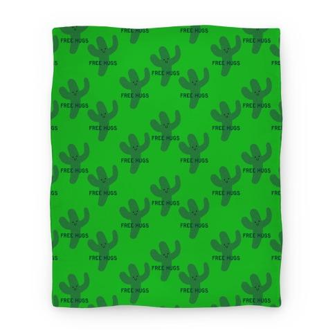 Free Hugs Cactus Blanket