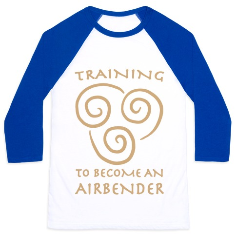 Training to Become An Airbender Baseball Tee