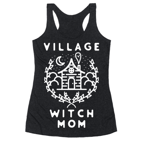 Village Witch Mom Racerback Tank Top