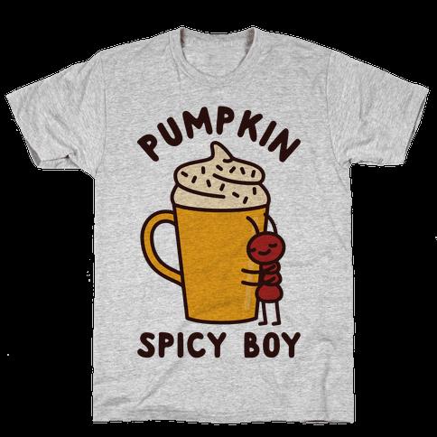 Pumpkin Spicy Boy Mens T-Shirt
