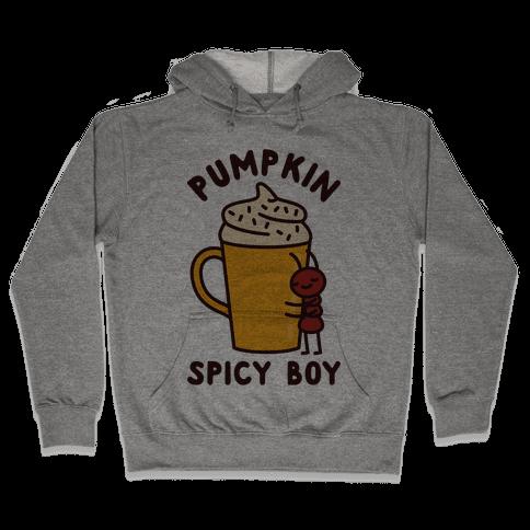 Pumpkin Spicy Boy Hooded Sweatshirt