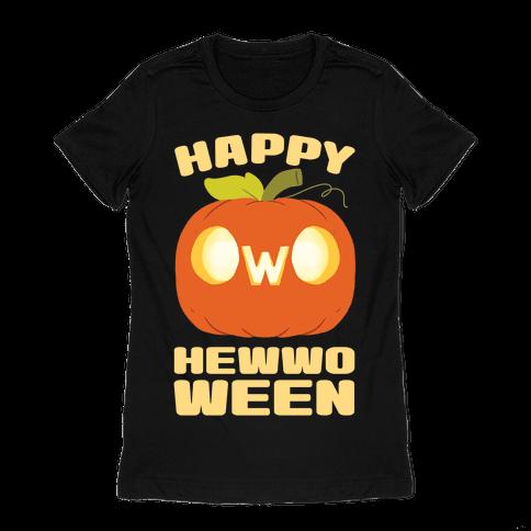 Happy Hewwoween OwO Womens T-Shirt