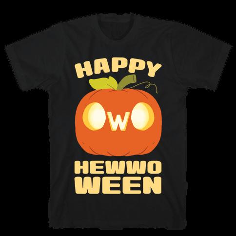 Happy Hewwoween OwO Mens/Unisex T-Shirt