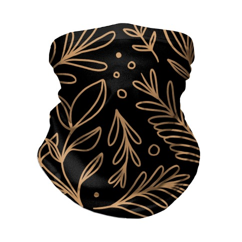 Tan Botanicals Neck Gaiter