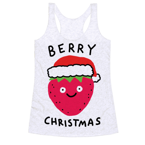 Berry Christmas Racerback Tank Top
