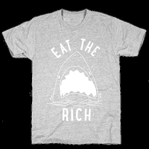 Eat the Rich Shark Mens/Unisex T-Shirt
