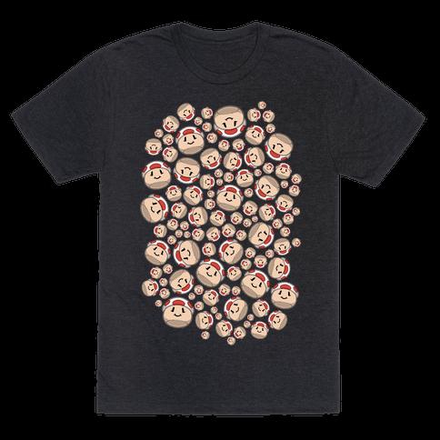 Stuffed Shrooms Pattern Mens/Unisex T-Shirt