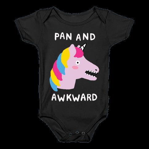 Pan And Awkward Baby Onesy