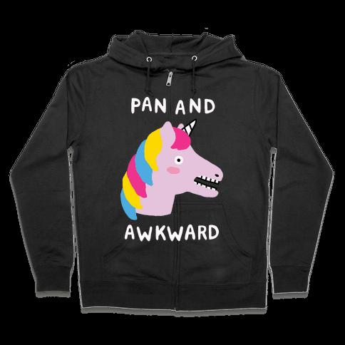 Pan And Awkward Zip Hoodie