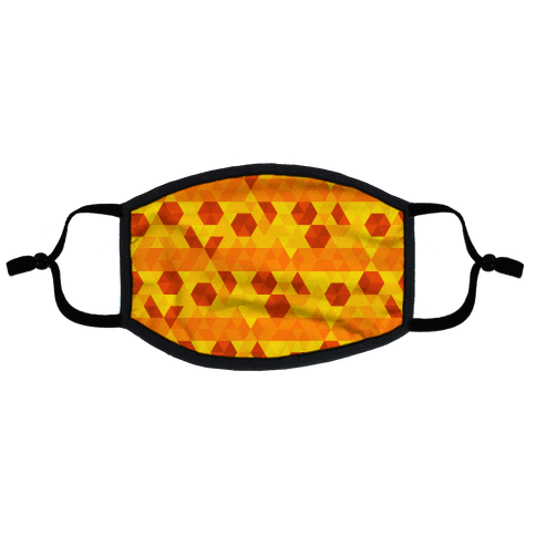 Geometric Pizza Tessellation Flat Face Mask
