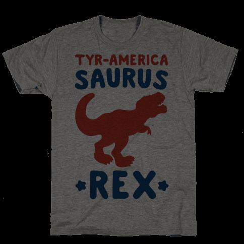 Tyr-America-Saurus Rex Parody Mens T-Shirt