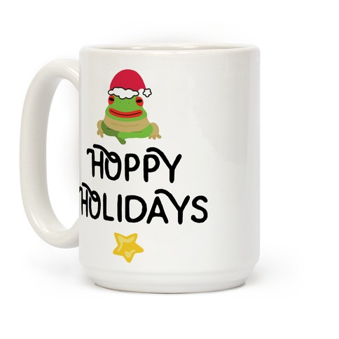 Hoppy Holidays Froggie Coffee Mug