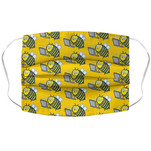 Worker (From Home) Bee Accordion Face Mask