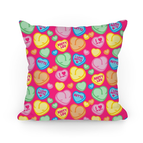 Candy Heart Butts Pillow