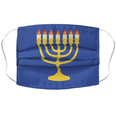 Menorah Mask Accordion Face Mask
