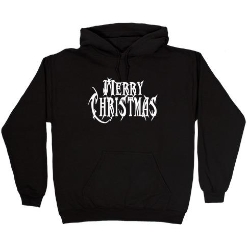 Merry (Metal) Christmas Hooded Sweatshirt