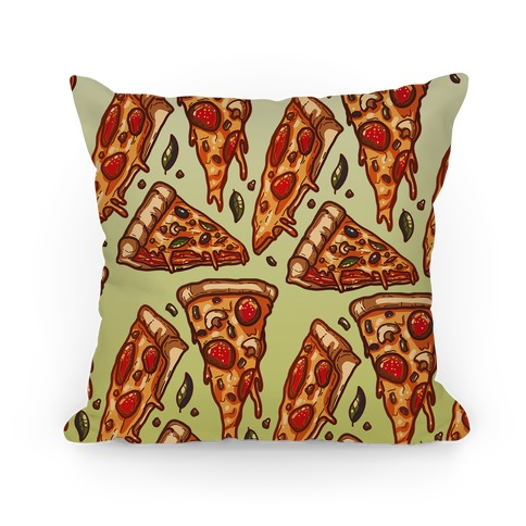 Pizzas Pattern Pillow