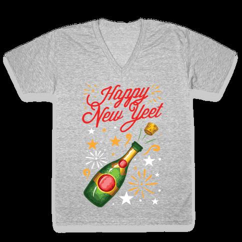Happy New Yeet V-Neck Tee Shirt