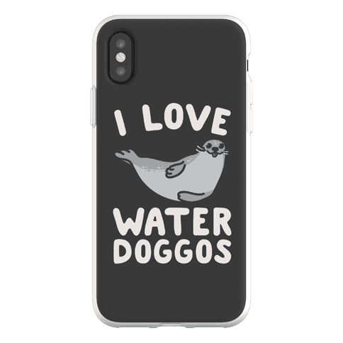 I Love Water Doggos Phone Flexi-Case