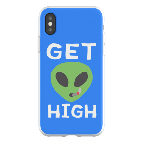 Get High Alien Phone Flexi-Case