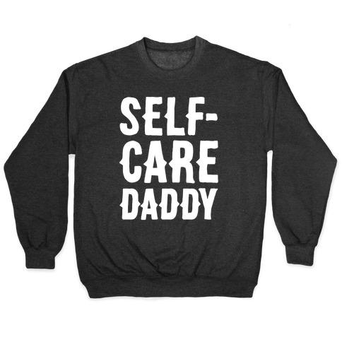 Self-Care Daddy White Print Pullover