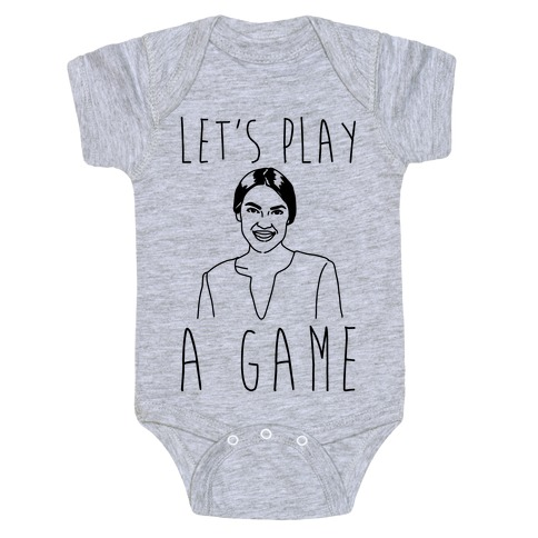 Let's Play A Game AOC Baby Onesy