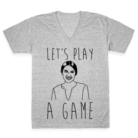 Let's Play A Game AOC V-Neck Tee Shirt