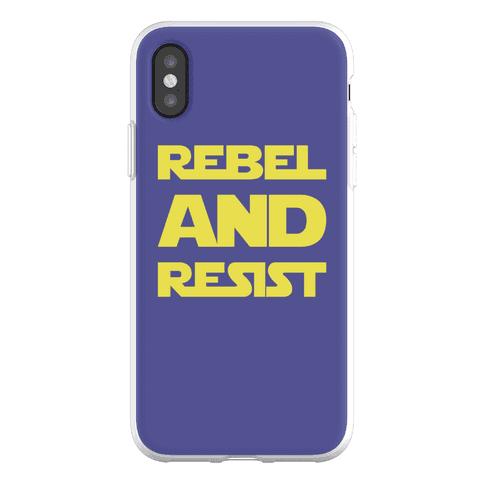Rebel and Resist Parody Phone Flexi-Case