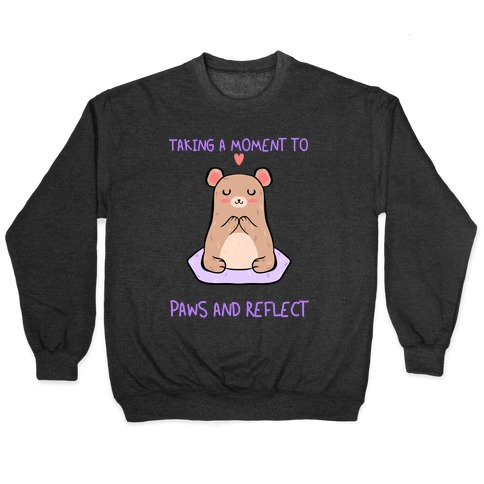 Taking A Moment To Paws And Reflect Pullover